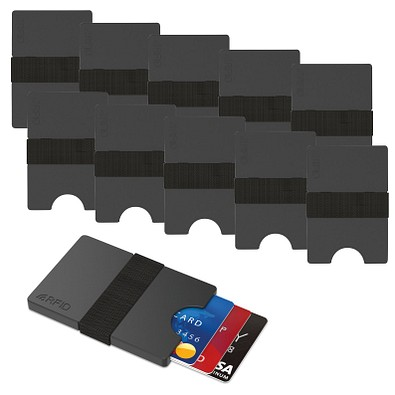 Werbe-Sparset Mini-Portemonnaie iWallet Compact, 60-tlg., inkl. Druck, schwarz