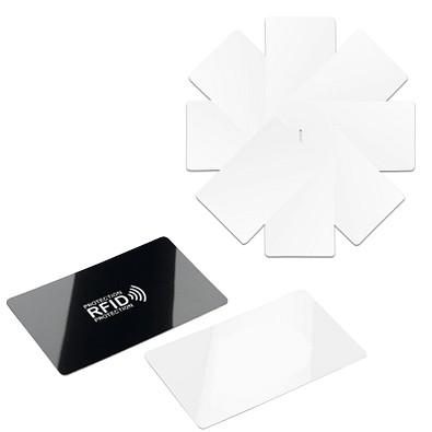Werbe-Sparset RFID Anti Skim Karte, 60-tlg., inkl. Druck, schwarz / weiß