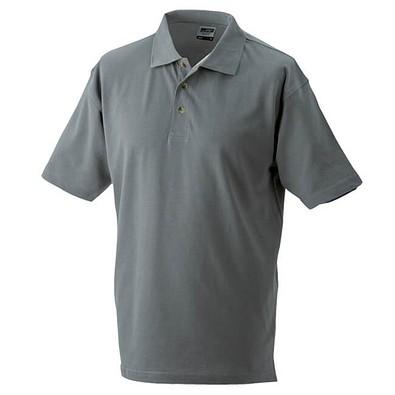 JAMES & NICHOLSON Unisex Poloshirt, dunkelgrau, L