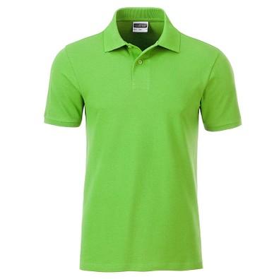 JAMES & NICHOLSON Herren Poloshirt Basic Bio BW, hellgrün, L