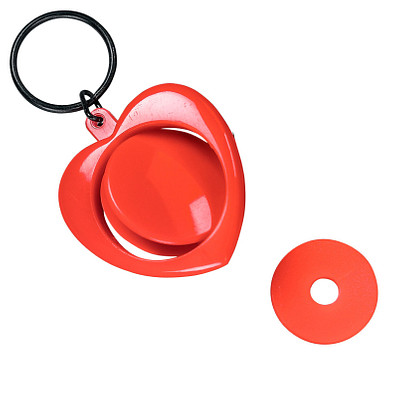 Dreh-Schlüsselanhänger Heart, standard-rot