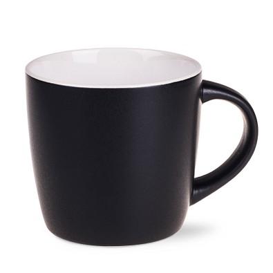 Keramiktasse Handy Supreme, 300 ml, matt schwarz/weiß