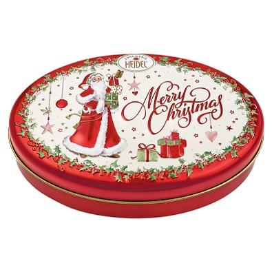 CONFISERIE HEIDEL Präsentdose Weiße Weihnacht, rot/weiß