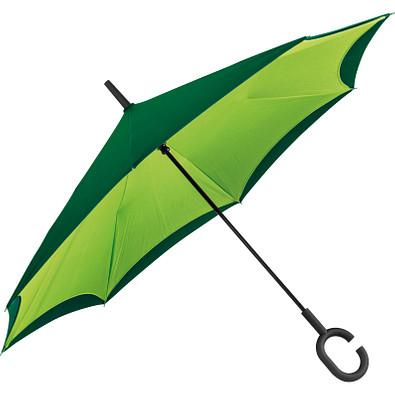 Umklappbarer Regenschirm aus 190T Pongee mit Griff zum Einhängen am Handgelenk, apfelgrün